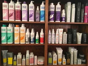 Shelves of Framesi Products